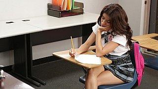 Cute schoolgirl fucking her teacher Thumbnail