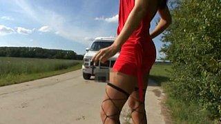 Blonde hitchhiker