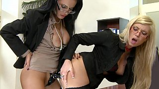 Office girl fucking each other in the ass Thumbnail