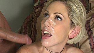 Kasey Grant gets facial cumshot