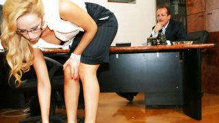Aleska Diamond sucks and fucks her boss Thumbnail