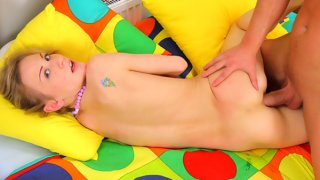 Meaty rod in this teeny's ass makes her feel good Thumbnail