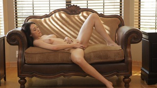 Buxom brunette Hanna Lay fondles her tits and pinches her puffy nipples on her way to satisfying... Thumbnail