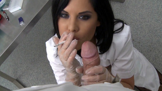 Doctor Madison Parker gives head while on her cigarette break Thumbnail