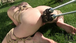 Samantha Bentley enjoying a double penetration from a mechanical monster Thumbnail