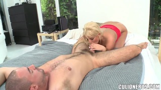 Julie Cash the blonde with very hot and sexy bubble butt and tight big boobs loves to suck dicks very much. Thumbnail