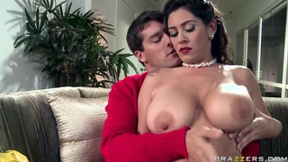 Ramon is happy to receive titsjob from seductive Latina Raylene Thumbnail