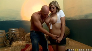 Busty Dayna Vendetta gives head to Johnny Sins