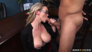 Dreamboat Abbey Brooks fools with a handsome dude and his dick Thumbnail