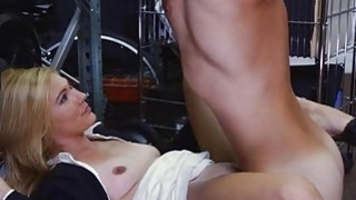 Hot blonde milf pounded at the pawnshop and gets payed Thumbnail