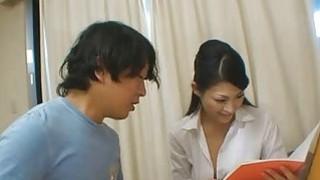 Japanese tutor Ryo rewards her pupil