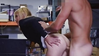 Blonde MILF tries to enjoy cock for cash Thumbnail