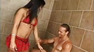 Asian Babe Smokes In A Shower Thumbnail