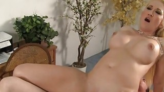 Cumshot surprise for hot milf boss Alana Evans Thumbnail