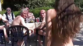 Anita Bellini gang banged by 8 old horny cocks Thumbnail