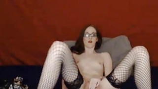 CyberSlut Sexy Brunette Spreads And Cums Thumbnail