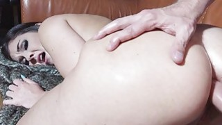 Sexy chick anal fucked and cum showered Thumbnail