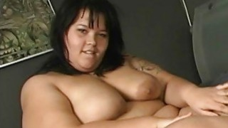 BBW smears cream on her fat skin Thumbnail