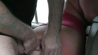 Chubby blond babe banged by fraud driver Thumbnail