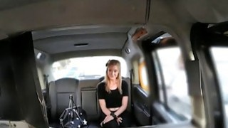 Blonde firl in stockings fucked by fake driver for free fare Thumbnail