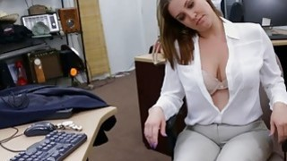 Foxy business woman nailed by pawn man at the pawnshop Thumbnail
