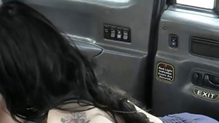 Nasty tattooed British fucked by driver in the backseat