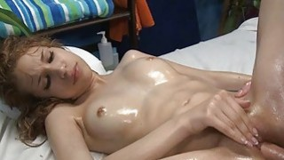 Pussy pounding for sweetheart after a massage Thumbnail