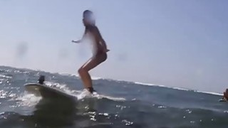 Sexy hot naked babes enjoyed boar hunting and surfing Thumbnail