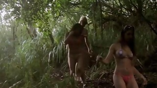 Badass lusty babes shows boobs boar hunting and sky diving Thumbnail