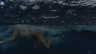 Badass babes spear fishing while naked and visit the crocs Thumbnail