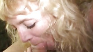 Old ugly crackhead gives great blowjob