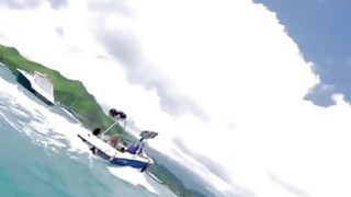 Busty badass babes enjoyed kite surfing and other activities Thumbnail