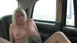 Busty tattooed passenger fucked by fake driver in the cab Thumbnail