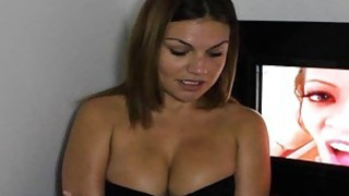 Big Tit Brunette Blows GloryHole Boners!