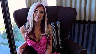 Stunning princess interviewed and pleasured