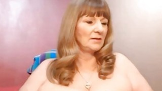 Blonde Mature Shows Off On Webcam