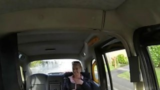 Babe flashes her big tits and screwed by perverted driver
