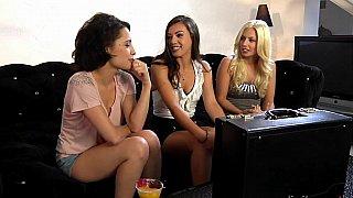 Three babes having good time