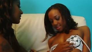 Hot ebony sluts in nice lesbian action Thumbnail