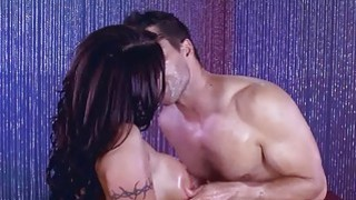 August enjoyed every hard and deep pounding by Ramon on her ass