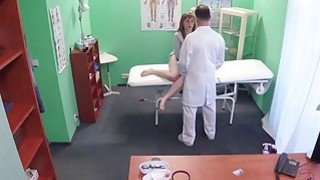 Brunette cutie gets her pussy filled with doctors warm cum Thumbnail