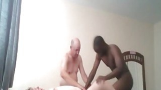 Cuckold BBW gets rammed by her man and a black stud Thumbnail