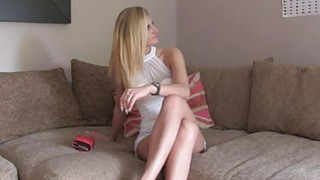 Fake agent fingers and anal fucks blonde after casting