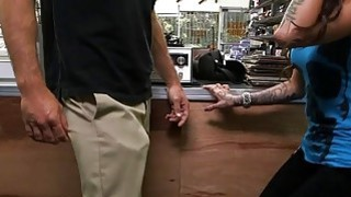 Busty tattooed woman drilled by pawn guy at the pawnshop Thumbnail