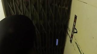 Police officer fucks blonde in elevator