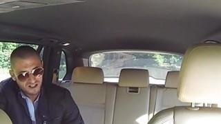 Italian guy bangs huge tits cab driver in public place Thumbnail