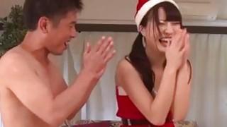Christmas party gone wild for sleazy Natsuki