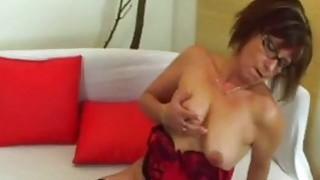 Jana The Cock Sucking And Riding Nerdy Granny