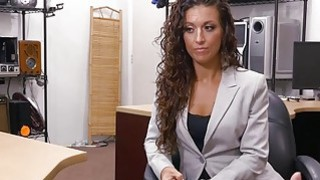 Sexy tattooed woman railed by pawn guy in his pawnshop Thumbnail