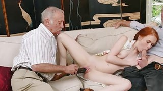 Redhead slut Dolly Little bangs by old men Thumbnail